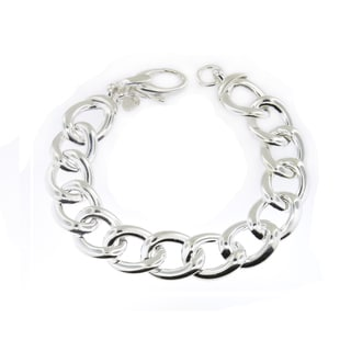 Sterling Silver Reversible Links Bracelet (Italy)