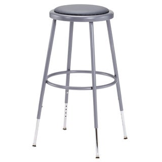 Grey Adjustable Height Stool