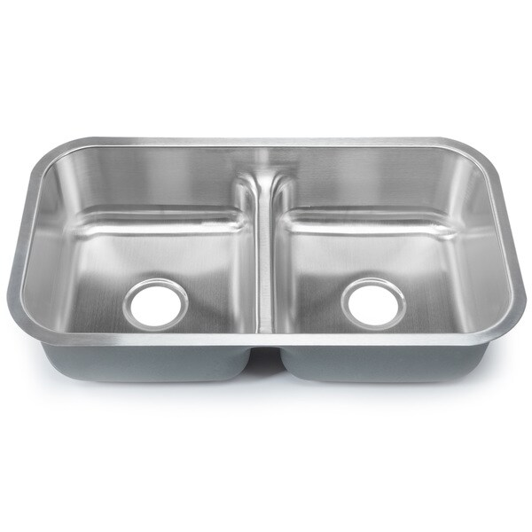 Designer Stainless Steel Sinks : ... Gauge 50/50 Equal Double Bowl Undermount Stainless Steel Kitchen Sink