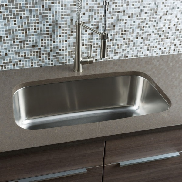Oversized Sinks Kitchen : Hahn Chef Series Stainless Steel Extra-large Single-bowl Kitchen Sink ...