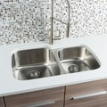 Hahn Chef Series Stainless Steel 60/ 40 Double-bowl Kitchen Sink