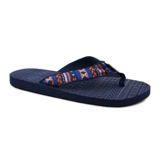 Muk Luks Men's 'Scotty' Navy Sport Flip-flops