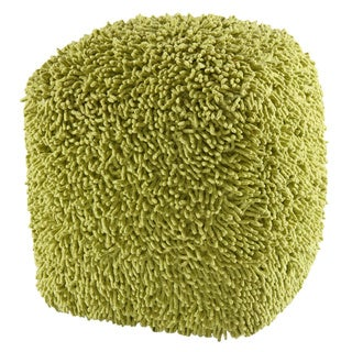 Green Shagadelic 19-inch Chenille Pouf