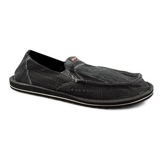 Muk Luks Men's 'Cole' Charcoal Linen Boat Shoes