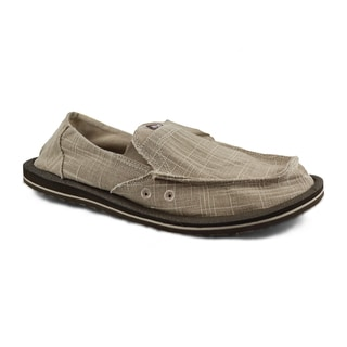 Muk Luks Men's 'Cole' Tan Linen Boat Shoes