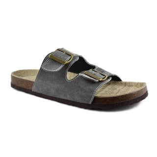 Muk Luks Men's 'Parker' Grey Cow Suede Duo Strapped Sandals