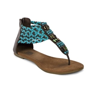 Muk Luks Women's 'Sierra' Teal Braided Sandals