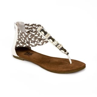 Muk Luks Women's 'Sierra' Off-white Braided Sandals