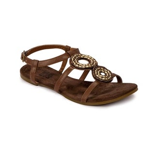 Muk Luks Women's 'Aurora' Brown Beaded Flat Sandals