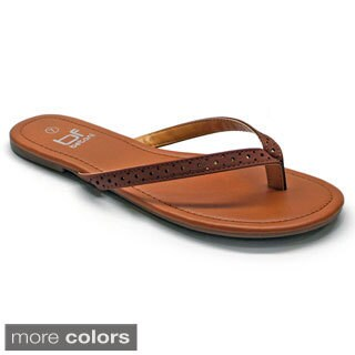 Betani Women's 'Amanda-9' Leatherette Flip-flops
