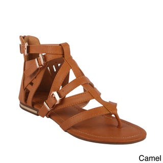 Bumper Women's 'Hope-01' Flat Strappy Sandals