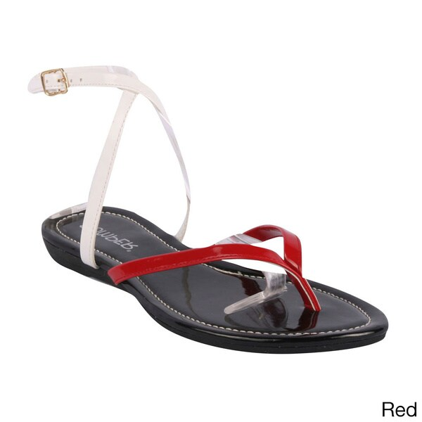 Bumper Women's 'Lory-68' Criss-cross Ankle Strap Flat Sandals