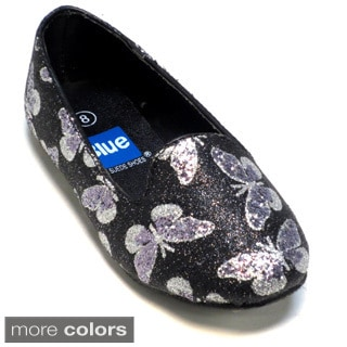 Blue Girls 'K-Heff' Glitter Printed Dressy Shoes