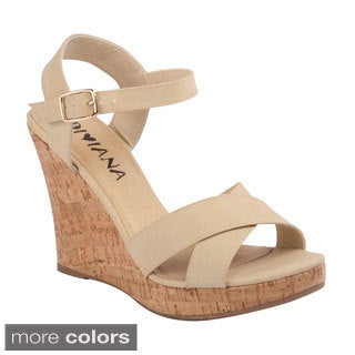 Diviana Women's 'Kealie-01' Criss-crossed Wedge Sandals
