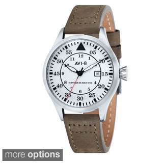 AVI-8 Men's 'Hawker Hurricane' Leather Watch
