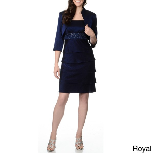 Popular Karen Miller Women39s39 Formal Embellished Jacket And Long Dress Set