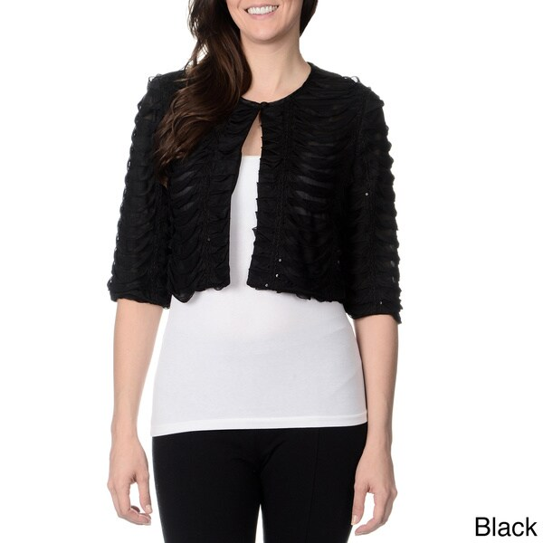 R & M Richards Women's Dresswear Pleated Shrug