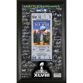NFL Seattle Seahawks Super Bowl 48 Signature Ticket