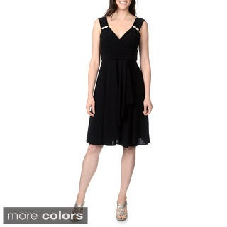 R & M Richards Women's Banded Bodice Cocktail Dress