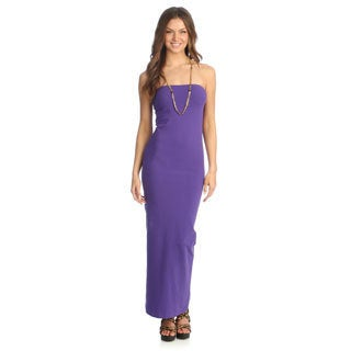 American Apparel Women's Purple Jersey Convertible Tube Dress