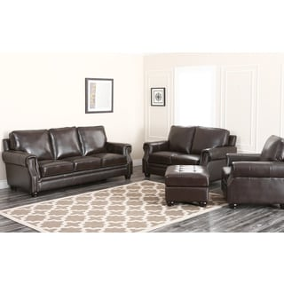 Abbyson Living Carrow 4 Piece Leather Set