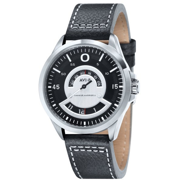 AVI-8 Men's 'Hawker Harrier II' Leather Strap Watch