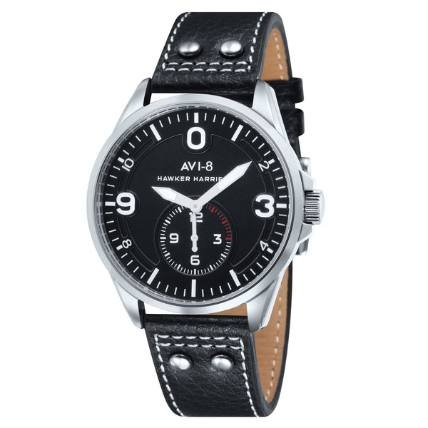 AVI-8 Men's 'Hawker Harrier II' Leather Quartz Watch