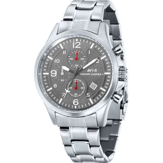 AVI-8 Men's 'Hawker Harrier II' Stainless Steel Chronograph Watch