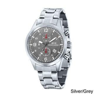 AVI-8 Men's 'Hawker Harrier II' Stainless Steel Chronograph Watch