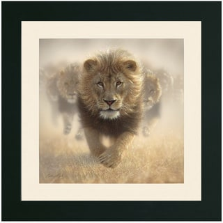 Eat My Dust Lion Pride Framed Print