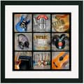 Music Maker 9 Patch Framed and Matted Wall Art Print