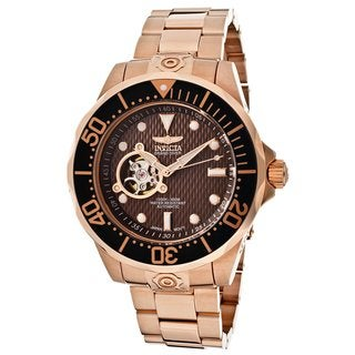 Invicta Men's 13713 'Pro Diver Automatic' Brown Dial Watch