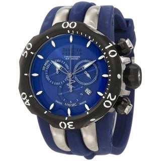 Invicta Men's 10836 'Reserve Venom Chronograph' Blue Dial Watch