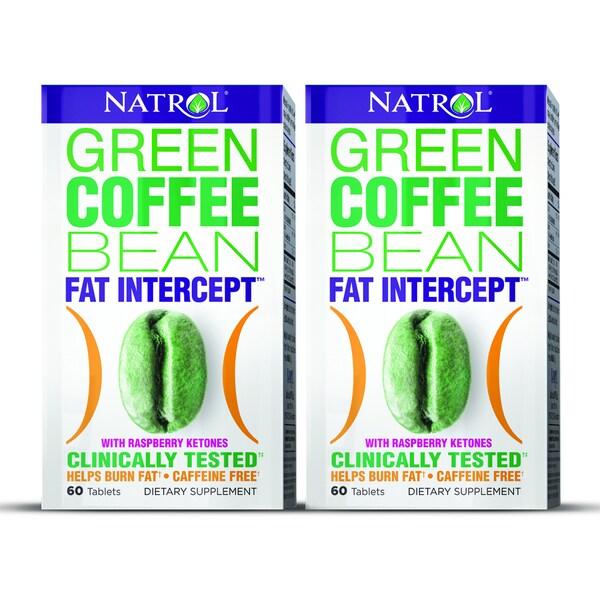 Natrol Green Coffee Bean with Raspberry Ketones (Pack of 2)