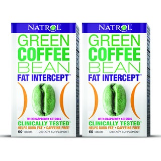 Natrol Green Coffee Bean with Raspberry Ketones (Pack of 2)