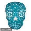 Day of the Dead Shari Sugar Skull-shape Throw Pillow