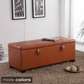 Castillian Collection Classic Buckled Storage Bench Ottoman
