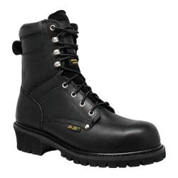 Men's AdTec 9494 9in Super Logger Black Leather