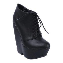 Women's Beston Caydee-2 Black Faux Leather