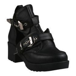 Women's Beston Harley-01 Black Faux Leather