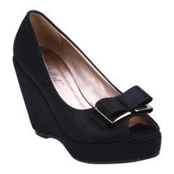 Women's Beston Nibea-1 Black Faux Suede