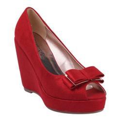 Women's Beston Nibea-1 Red Faux Suede