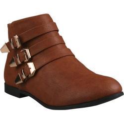 Women's Beston Polly-02 Cognac Faux Leather