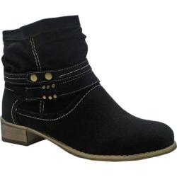 Women's Beston Sabrina-5 Black Faux Suede