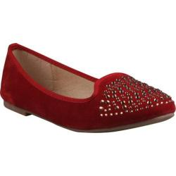 Women's Beston Stacy-01 Red Faux Suede