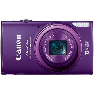 Canon PowerShot 340HS 16MP Purple Digital Camera