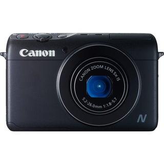 Canon PowerShot N100 12.1 Megapixel Compact Camera - Black