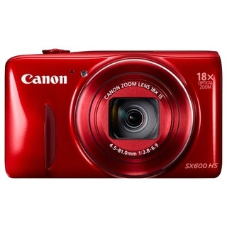 Canon PowerShot SX600 HS 16 Megapixel Compact Camera - Red