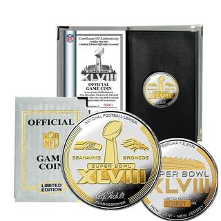 NFL Super Bowl 48 Two-tone Flip Coin