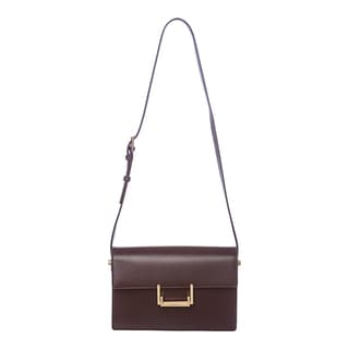 Saint Laurent 'Classic Lulu' Medium Burgundy Leather Shoulder Bag
